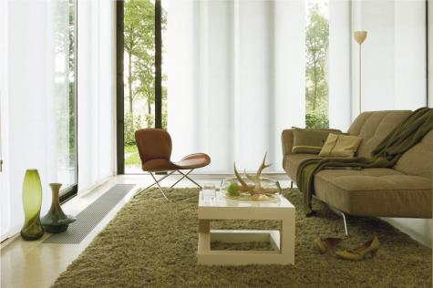 panel oriental blanco living con sillon